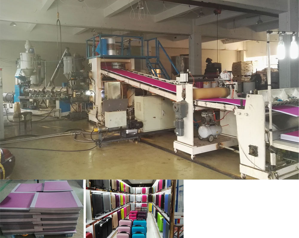 PS PC PP ABS luggage sheet extrusion line