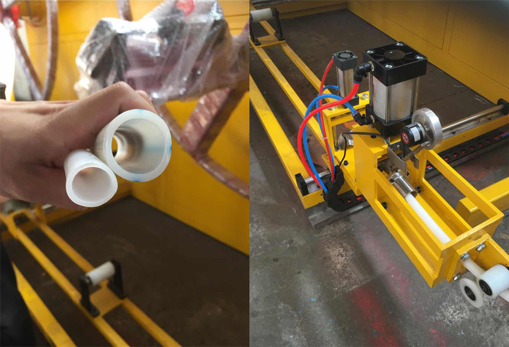 plastic pipe coiler machine