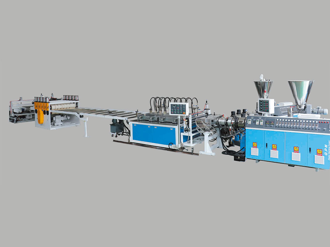 Co-extrusion Line For PVC Foam Corrugated Sheet